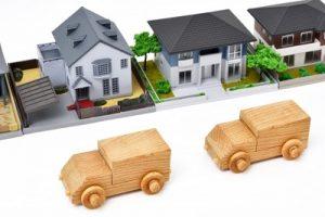 ミニチュアの車と家