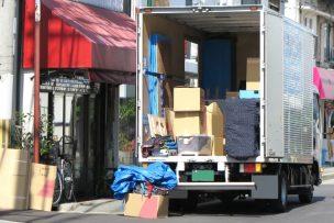 引っ越しトラックの荷台