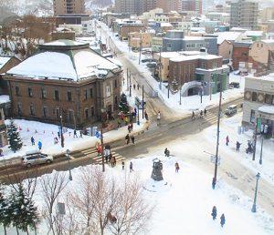 雪国の街並み
